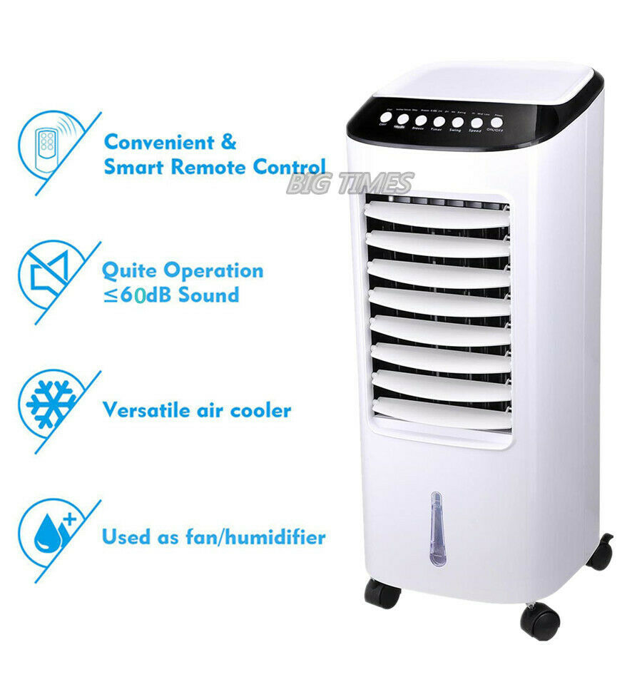 Evaporative Portable Air Conditioner Cooler Fan with Remote