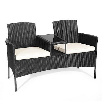 Topbuy Outdoor Rattan Furniture Wicker Patio Conversation Chair 3