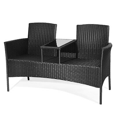 Topbuy Outdoor Rattan Furniture Wicker Patio Conversation Chair 4