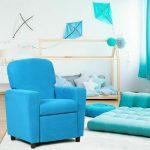 Kids Living Room Recliner Sofa Armrest Chair-Blue 1