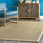 nuLOOM Casuals Hesse Checker Weave Seagrass Indoor/Outdoor Area Rug in Natural