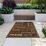 Indoor/Outdoor Rugs Flatweave Contemporary Patio, Pool, Camp and Picnic Carpets 1