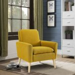 Modern Accent Fabric Chair Single Sofa Comfy Upholstered Arm Chair Living Room  2