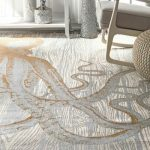 nuLOOM Thomas Paul Flatweave Octopus Cotton Area Rug in Ivory, Grey, Gold 1