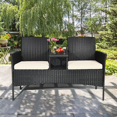 Topbuy Outdoor Rattan Furniture Wicker Patio Conversation Chair 1